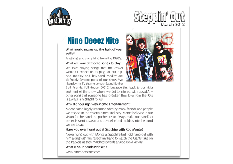ndn in steppin out magazine